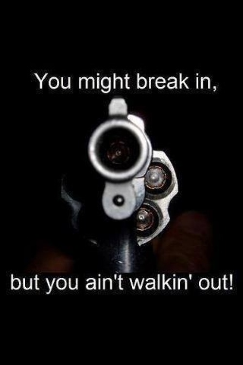 Gun you might break in but you won't walk out