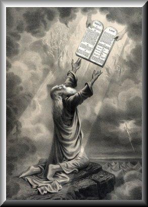 Moses receives the ten commandments