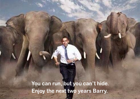 Obama can run but he can't hide