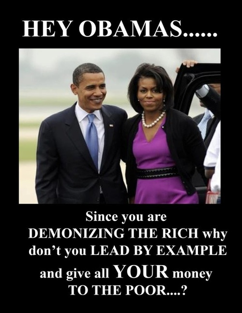 Obama's won't give all their money to poor