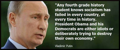 Putin disses Obama for socialism