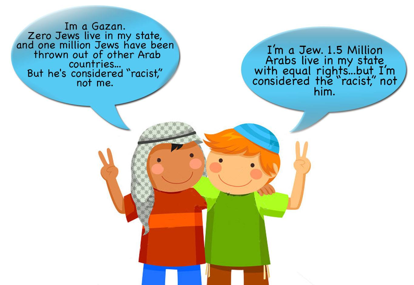 Racism double stands for Israel and Gaza