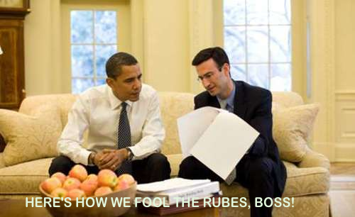 Showing Obama  how to fool the rubes