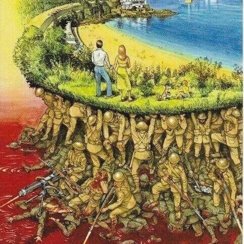 Soldiers blood makes our peace possible