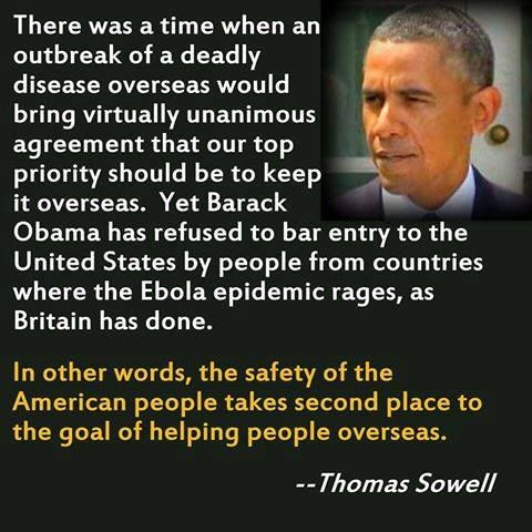 Thomas Sowell on Obama's response to Ebola