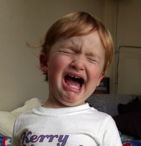 Toddler having temper tantrum