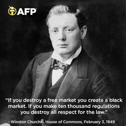 Winston Churchill on the free market