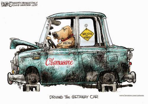 The media's Obamacare getaway car