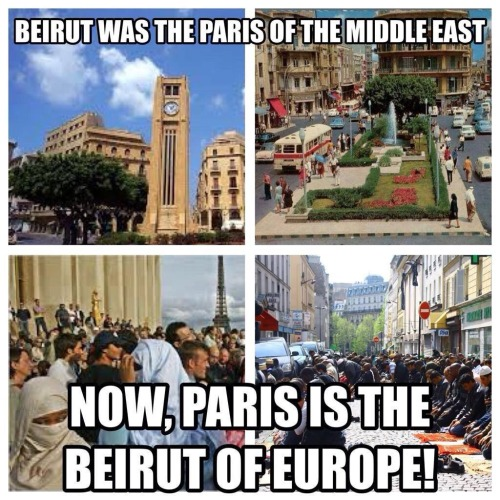 Beirut was Paris of Middle East now Paris is the Beirut of Europe