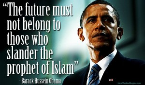 Obama says the future does not belong to those who slander the Prophet