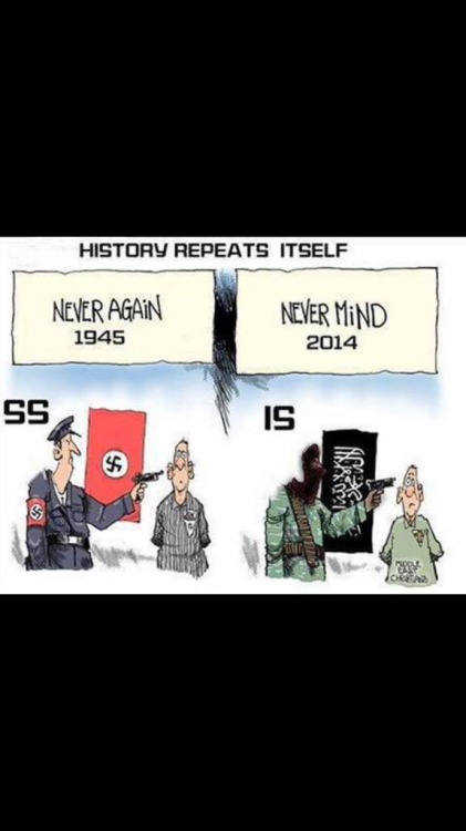 1945 never again 2014 never mind