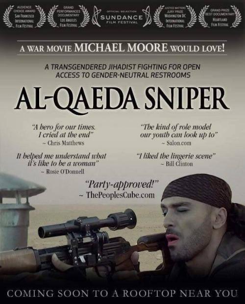 Al-Qaeda sniper a movie Michael Moore would love