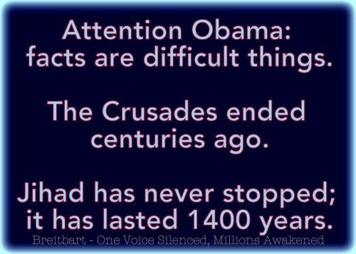 Educating Obama about the Crusades and Jihad