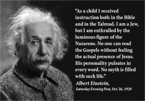 Einstein on Jesus