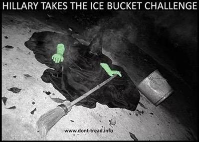 Hillary takes the ice bucket challenge