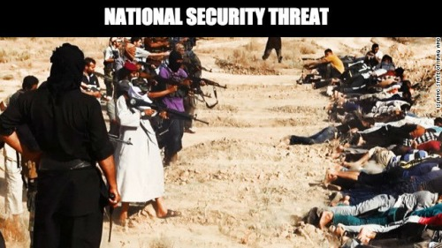 ISIS slaughter a national security threat