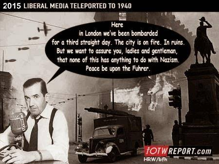 If liberal media reported on London Blitz