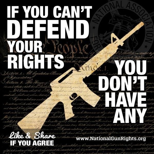 If you can't defend your rights you don't have them