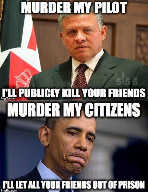 King Abdullah v Barack Obama