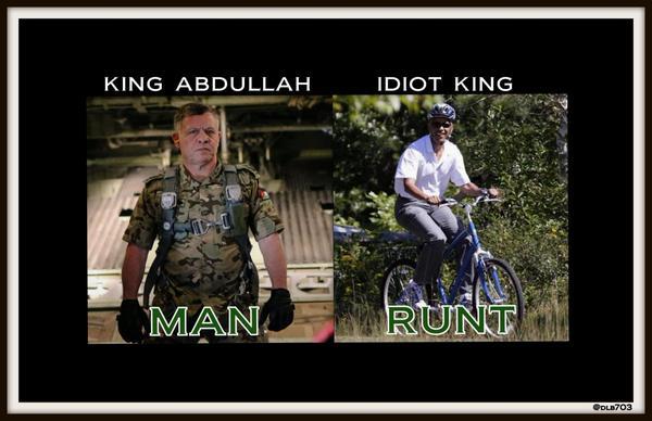 King Abdullah v Obama