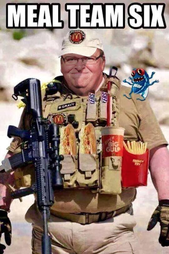 Michael Moore as Meal Team Six