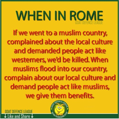 Muslims treated well here while we'd be treated badly there
