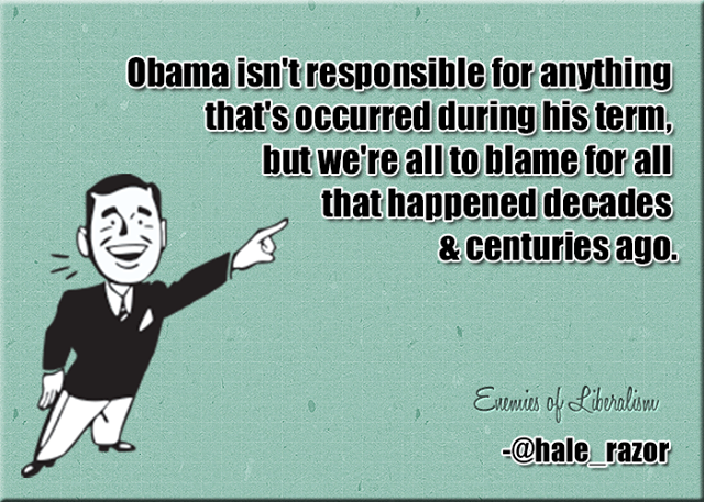 Obama not responsible for presidency but we're responsible for Crusades