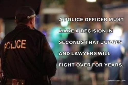 Police officer makes decision in seconds that lawyers fight over for years