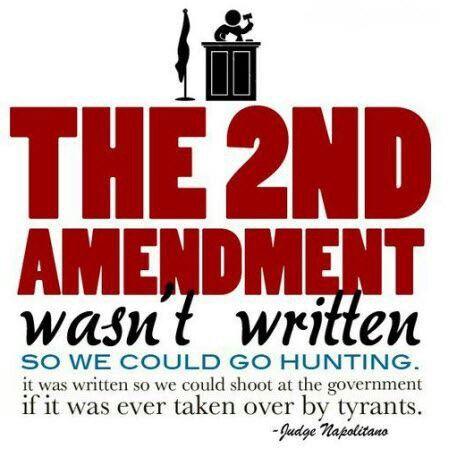 Second Amendment written to take down tyrants