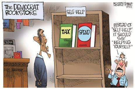 The Democrat Bookstore Tax and Spend
