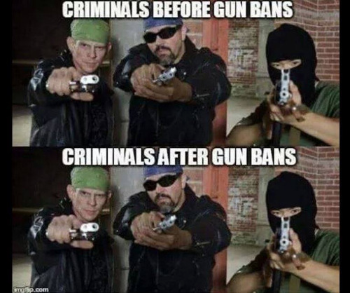 Criminals before and after guns