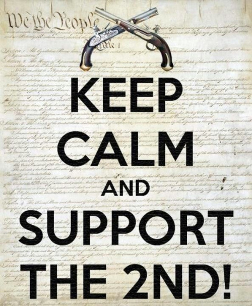 Keep calm and support the 2nd amendment