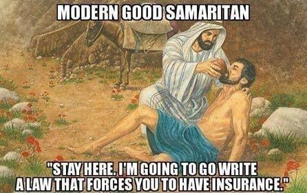 Modern good samaritan and Obamacare