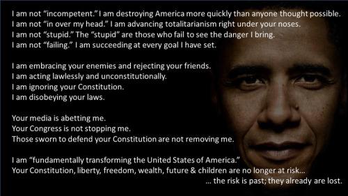 Obama competent at America's destruction