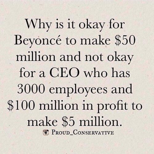 Beyonce profits