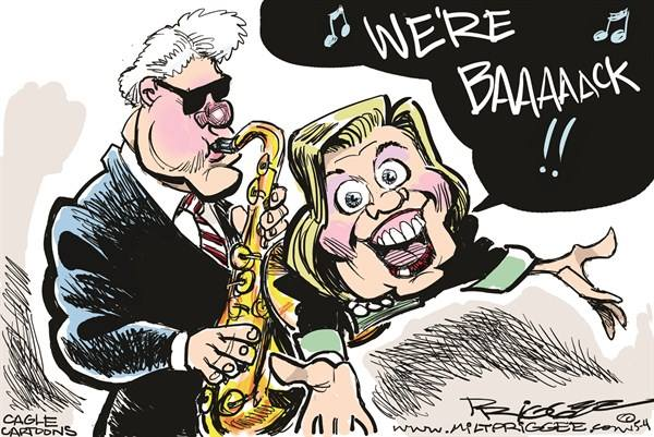 Clintons are back