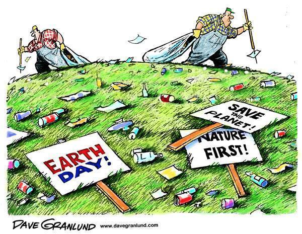 Dirty Earth Day supporters
