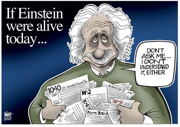Einstein and taxes