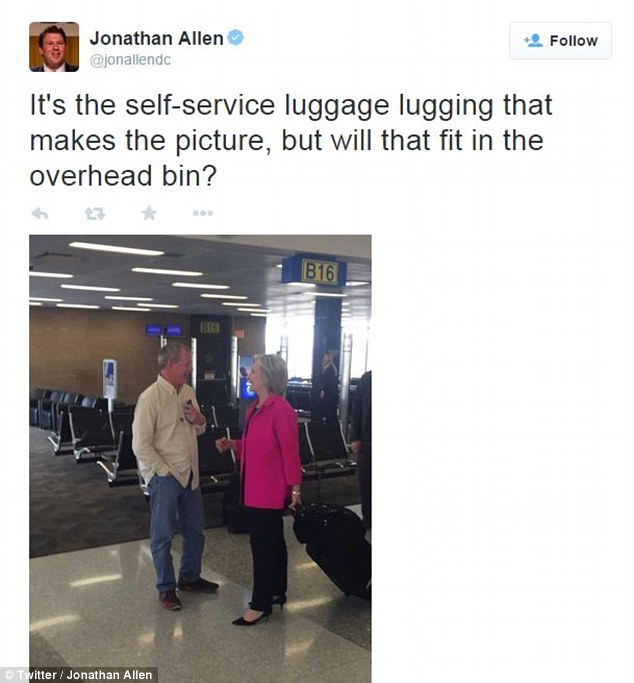 Hillary and her suitcase