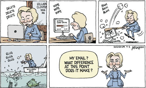 Hillary deletes things