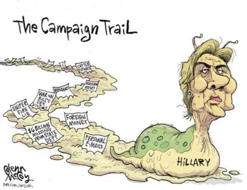 Hillary's slimy trail