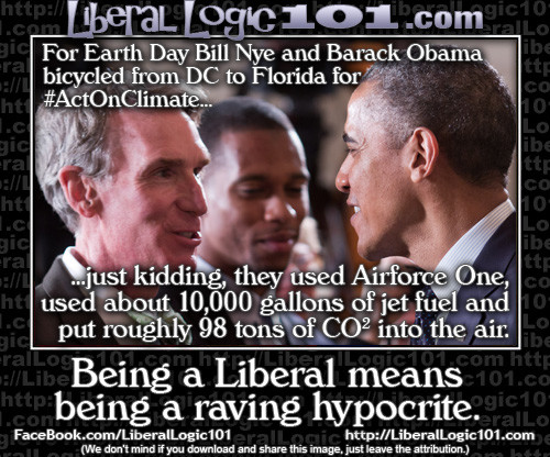 Liberal earth day hypocrites
