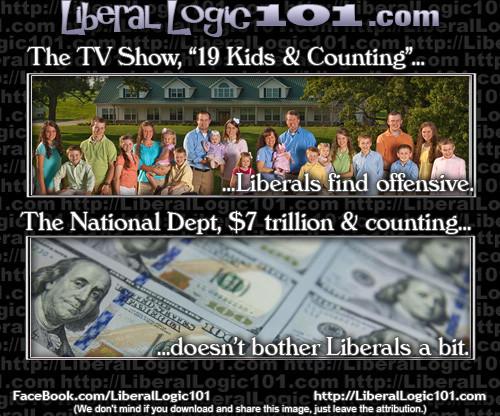 Liberal logic national debt