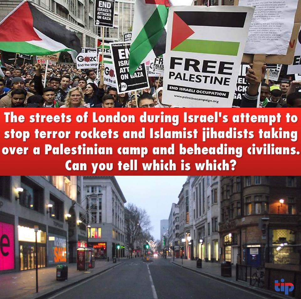 London protests about Palestinians