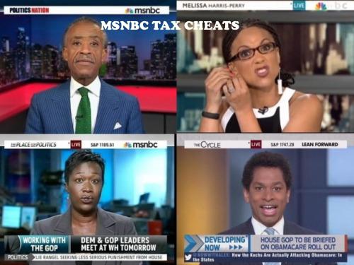MSNBC Tax cheats