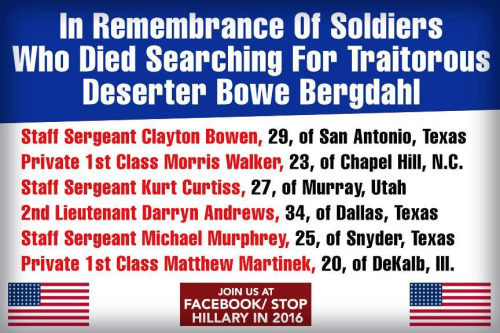 Remembering those who died searching for Bowe Bergdahl