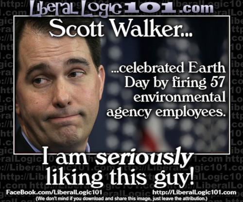 Scott Walker Environmental Employees