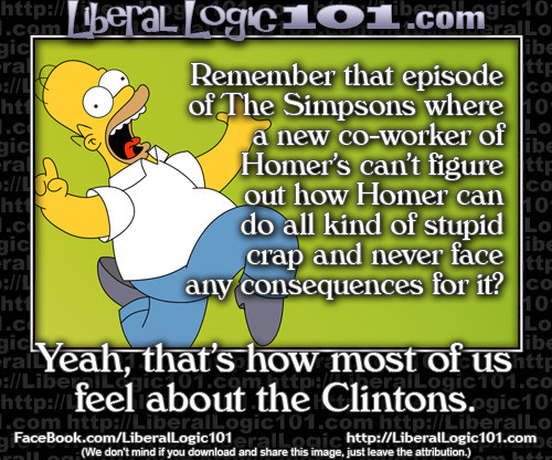 Simpsons Clintons
