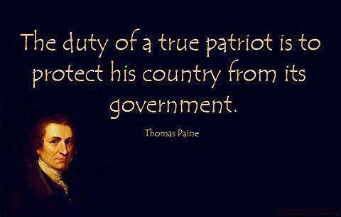 Thomas Paine patriot government