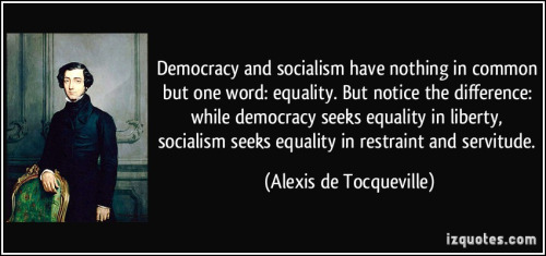 Tocqueville on equality under true democracy and socialism